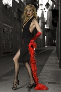 Vestido de tango para Pascua